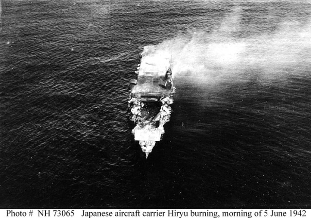 Jap Hiryu burning 1